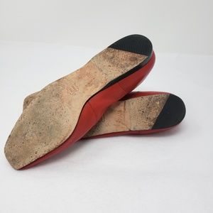 Enzo Angiolini Shoes - Enzo Angiolini Red Leather Loafers Gold Star Flats